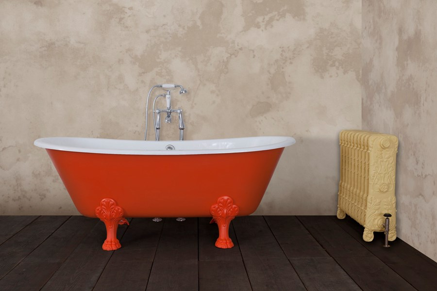 Painted Vancouver Style Jig Cast Iron Bath
