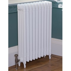 Parchment White Finish Deco Radiator