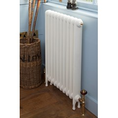 Parchment White Narrow Eton Cast Iron Radiator