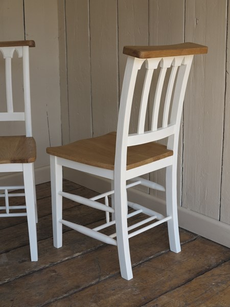 pictures of hand painted church chairs