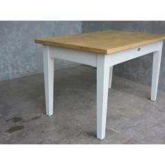 Plank Top Dining Table With Drawer
