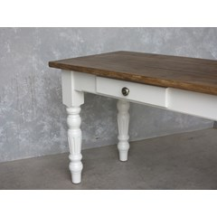 Plank Top Kitchen Table With Fluted Legs
