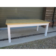 Plank Top Kitchen Table With Square Legs