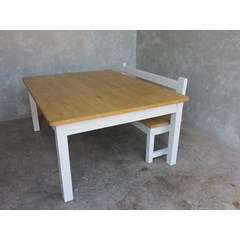 Plank Top Table With Square Legs