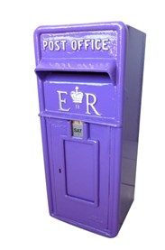 Post Box Finished in Dulux Purple Pout