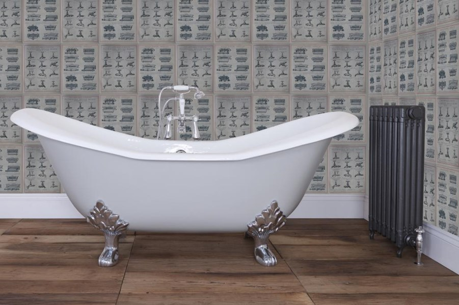 Primary Image - Banburgh Large Double High Slipper Cast Iron Roll Top Bath