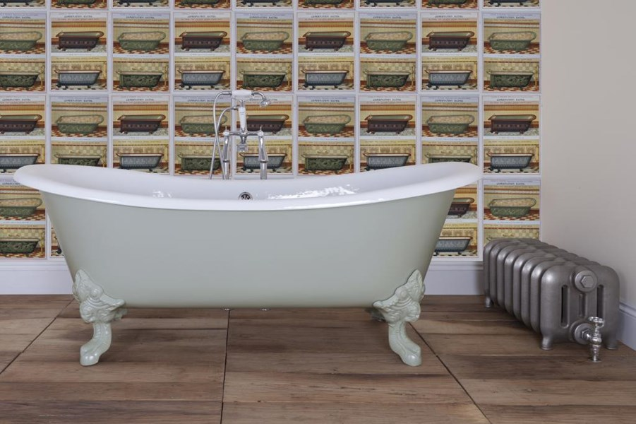 Primary Image - Belvoir Double Slipper Roll Top Cast Iron Bath