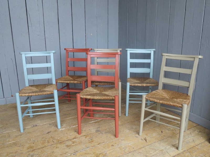 Primary Image - Mixture of Farrow & Ball Solid Finish Painted Chairs