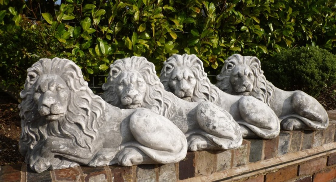 Primary Image - Plaster Models of Recumbent Lions