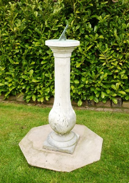 Primary Image - Victorian Austin and Seeley Hand Carved Sundial