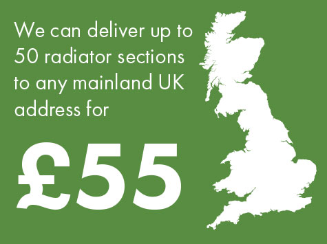 We can deliver up to 50 radiator sections to any mainland UK address for £55
