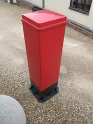 Rare Square Cast Iron Pillar Box