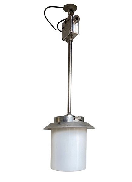 Reclaimed Chrome Industrial Ceiling Light
