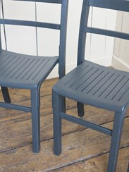 Reclaimed Church Stacking Chairs are available to buy at UKAA