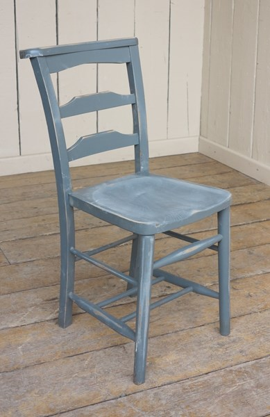 Reclaimed Distressed Painted Solid Church Chairs