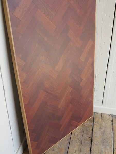 Reclaimed Hardwood Parquet Kitchen Table Top