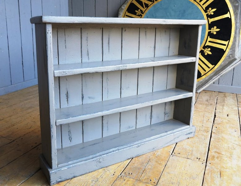 Reclaimed Plank Hand Painted & Distressed Bookcase