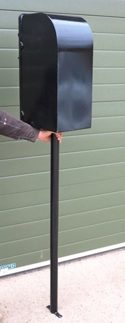 Reclaimed Style ERII Post Box With Pole