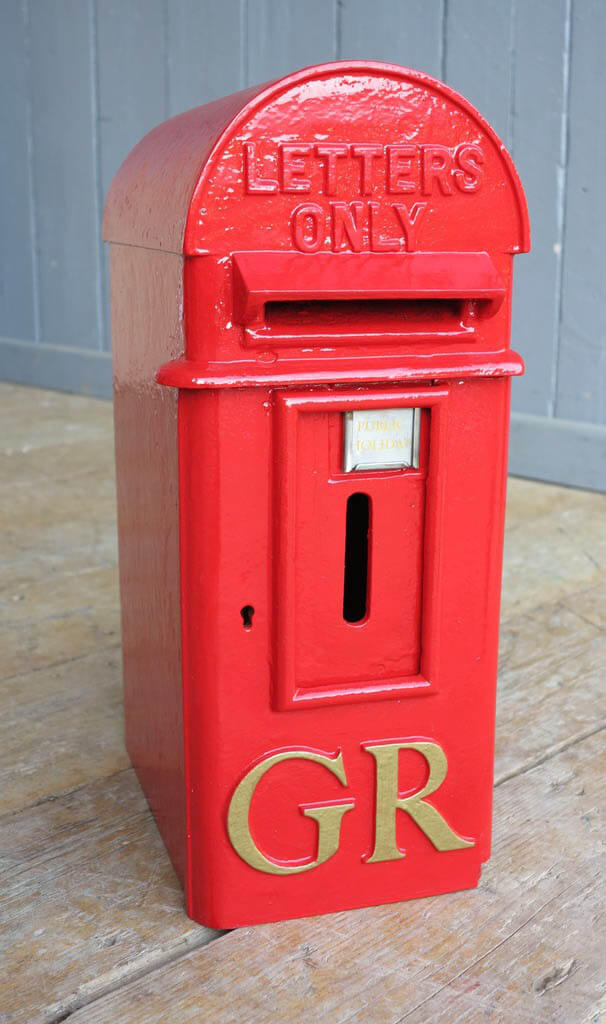 Antique Reclaimed British Royal Mail Hovis Top Post Box]