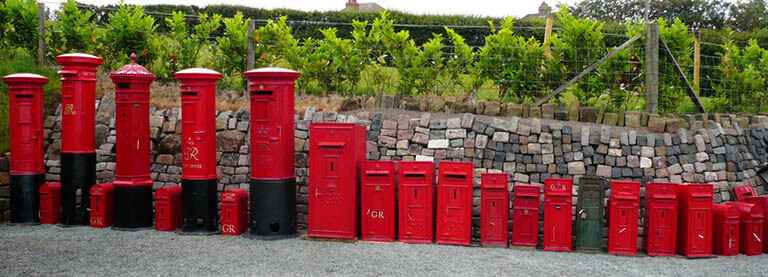 Original antique post boxes fully refurbished in our workshops
