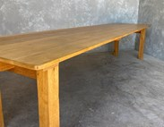 Rustic Solid Oak Reclaimed Table For Sale