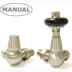 Satin Nickel Corner Manual Valves