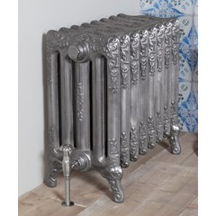 Satin Polished Turin Cast Iron Radiator