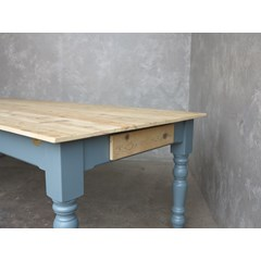 Scrub Top Kitchen Table With Drawers