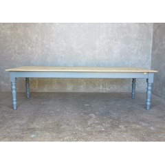 Scrub Top Kitchen Table With Turned Legs