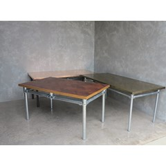Selection Of Wooden And Metal Top Tables
