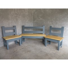 Set Of 3 Bespoke Made Kitchen Benches