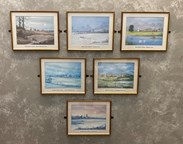 Set Of Old Genuine Old Colliery Paintings