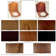 Showing the different wood finishes<br>Call our friendly sales team for any questions