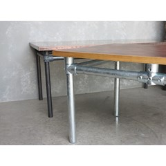 Showing The Galvanised Metal Tube Table Base