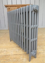 Side view of Carron Victorian 4 Column Cast Iron Radiator - 14 Sections Long - 760mm Tall x 140mm Deep