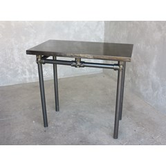 Small Zinc Table With Metal Base