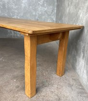 Solid Oak Antique Dining Table For Sale