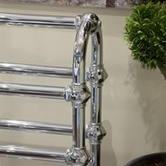 Stand Alone Towel Rack in a Chrome Finish