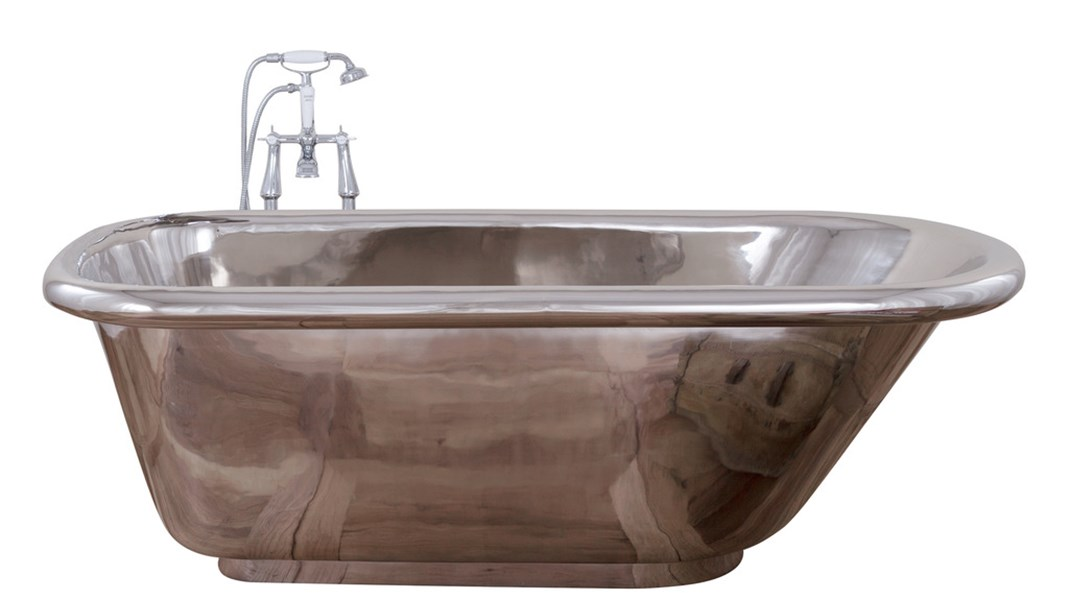 The Contempo Single Slipper Nickel Bath