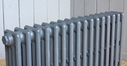 Top view of Carron Victorian 4 Column Cast Iron Radiator - 16 Sections Long - 760mm Tall x 140mm Deep