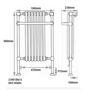 Towel Rail Radiators In Traditional Styles Made by Carron
