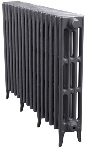 Victorian 4 Column Cast Iron Radiator 16 Sections Long