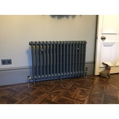 Victorian 4 Column Cast Iron Radiator Fitted