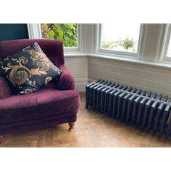 Victorian 9 Column Carron Cast Iron Radiator Fitted