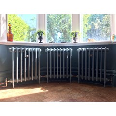 Victorian Cast Iron Radiator In a Bay Window
