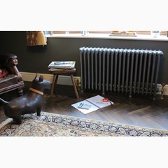 Victorian Style Cast Iron Radiator Finished in Foundry Grey