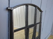 Vintage Cast Iron Rounded Mirror