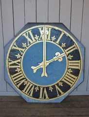 Wall mounted clock face feature