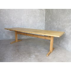 Waxed Plank Top Refectory Table