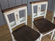 We have stained the seats darker and gone over with a Jacobean Finish - Requested by the customer